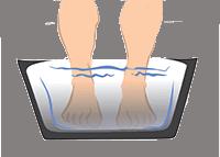 Douleur talon eau